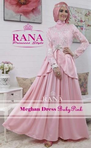 baju muslimah pesta,  Pusat-Gamis-Terbaru-Meghan-Dress-by-Rana-baby-Pink