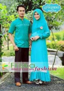 model baju muslim 2014 Pusat-Gamis-Terbaru-Meyza-Couple-Biru