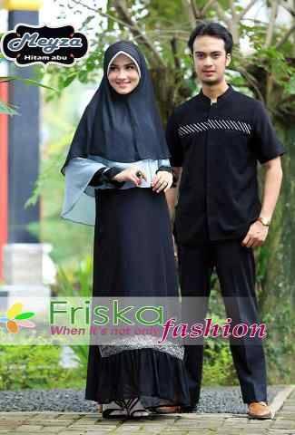 Meyza Couple Hitam Baju Muslim Gamis Modern