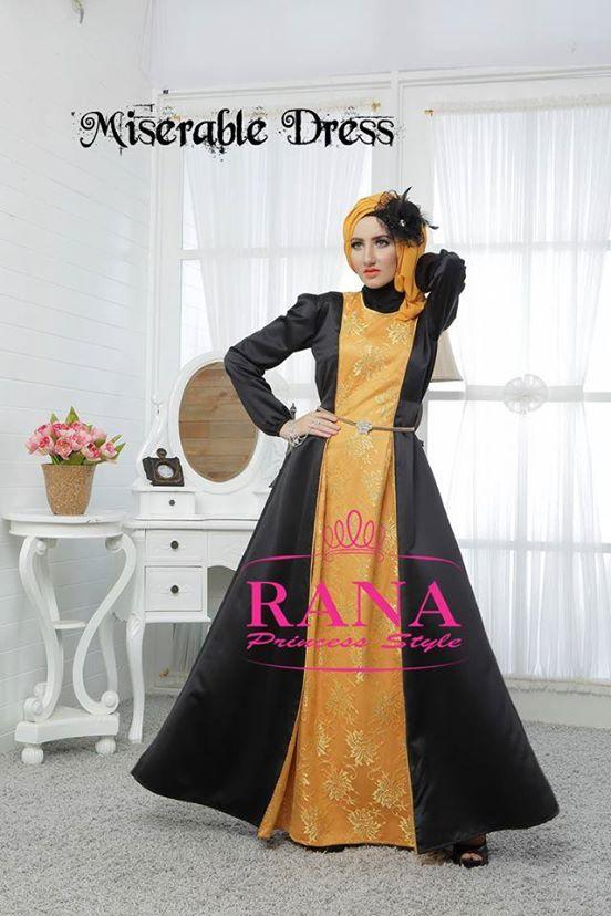 Miserable By Rana Gold Baju Muslim Gamis Modern Baju Gamis Pesta