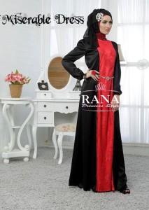 gamis pesta muslimah, baju muslimah online Pusat-Gamis-Terbaru-Miserable-by-Rana-Merah