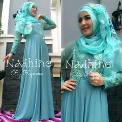 baju muslim modern, Pusat-Gamis-Terbaru-Nadhine-by-kynara-Light-Blue