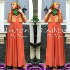 model baju muslim modern Pusat-Gamis-Terbaru-Nadhine-by-kynara-Orange