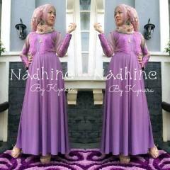 baju muslim modern wanita Pusat-Gamis-Terbaru-Nadhine-by-kynara-Purple