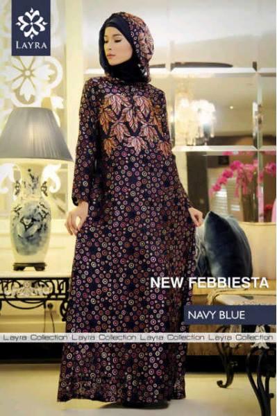 Febiesta abaya navy blue baju muslim gamis modern Baju gamis nevada