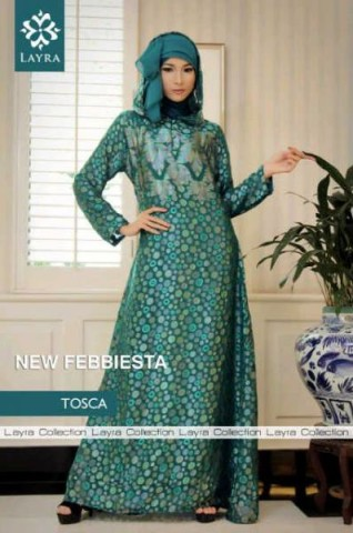 baju muslim modern dan elegan Pusat-Gamis-Terbaru-New-Febiesta-Abaya-2-Tosca