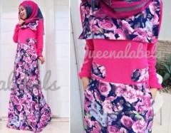 baju muslim modern, Pusat-Gamis-Terbaru-New-Souza-Dress-by-Queena-Fanta