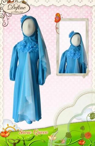 baju muslim anak gamis, Pusat-Gamis-Terbaru-Snow-Queen