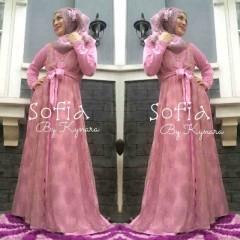 baju muslimah anggun, Pusat-Gamis-Terbaru-Sofia-by-Kynara-Dusty-Pink