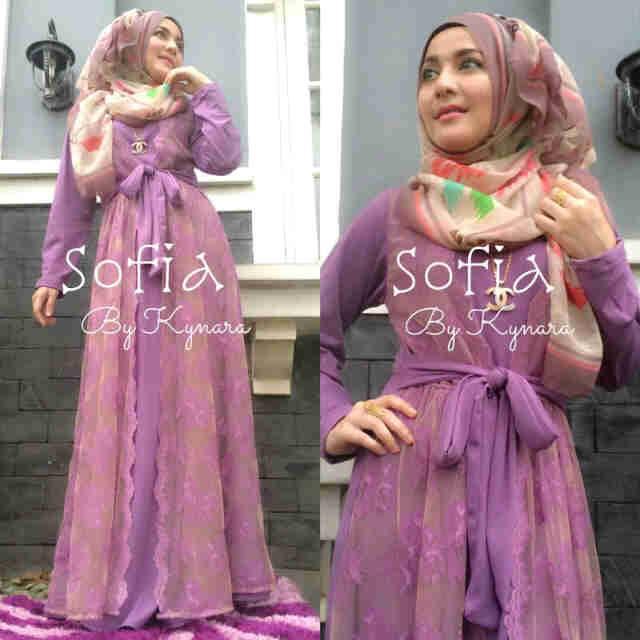 Sofia By Kynara Lavender Baju Muslim Gamis Modern