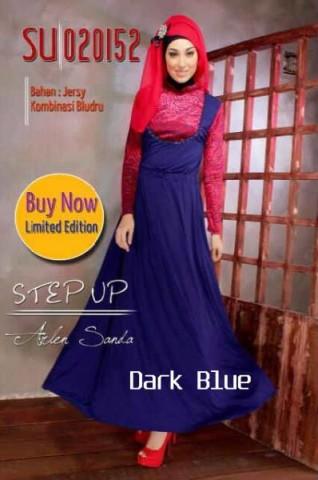 baju gamis terbaru, Pusat-Gamis-Terbaru-Step-Up-Hisma-(020152)-Dark-Blue
