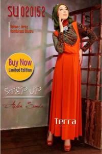 baju gamis cantik, Pusat-Gamis-Terbaru-Step-Up-Hisma-(020152)-Terra