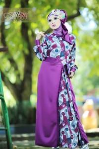 baju muslim modern dan elegan , Pusat-Gamis-Terbaru-Tsalitsa-by-Fitria-Style-Magenta