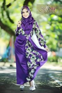 baju muslim di semarang , Pusat-Gamis-Terbaru-Tsalitsa-by-Fitria-Style-Ungu