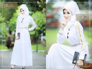 baju muslim modern full, Pusat-Gamis-terbaru-Afifa-by-Fitria-Style-Putih