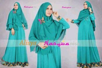 model gaun brokat, Pusat-Gamis-terbaru-Alisya-by-Nasywanisa-Tosca