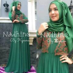 baju gaun Pusat-Gamis-terbaru-Nadhine-by-kynara-Green