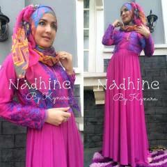 dress muslim pesta, Pusat-Gamis-terbaru-Nadhine-by-kynara-Magenta