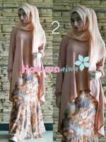 model baju muslimah trendy, Pusat-Gasmi-Terbaru-Flowrence-by-Hawwa-Aiwa-Coklat
