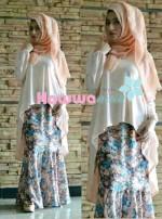 Model baju muslim trendy , Pusat-Gasmi-Terbaru-Flowrence-by-Hawwa-Aiwa-Cream
