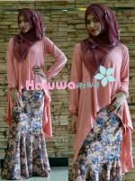 baju muslimah modis, Pusat-Gasmi-Terbaru-Flowrence-by-Hawwa-Aiwa-Pink