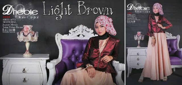gamis sifon modern, Pusat-gamis-Terbaru-Balimo-Dhebie-Light-Brown
