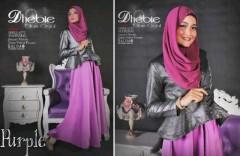 baju muslim pesta wanita Pusat-gamis-Terbaru-Balimo-Dhebie-Purple