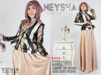 Model Baju Balimo Neysha A079 Brown