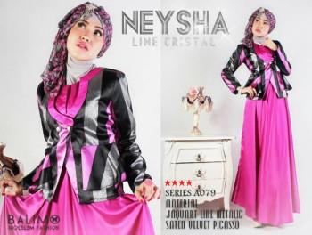 Model baju Muslimah Online Balimo Neysha A079 Fanta