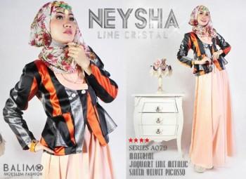 model Baju Gamis online Modern Balimo Neysha A079 Light Orange