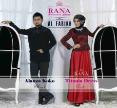 baju muslim elegan modern Gamis-Terbaru-Titan-Dress-dan-Alanza-Koko-Red-Black