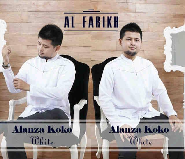 Alanza koko putih baju muslim gamis modern Baju couple gamis dan koko