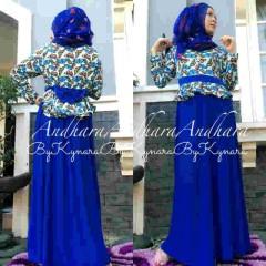 Model baju muslim terbaru Pusat-Gamis-Terbaru-Andhara-by-Kynarra-Blue-Electric