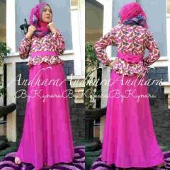 baju muslim pesta wanita Pusat-Gamis-Terbaru-Andhara-by-Kynarra-Fanta