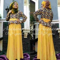 baju muslimah trendy Pusat-Gamis-Terbaru-Andhara-by-Kynarra-Yellow