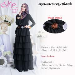 Pusat-Gamis-Terbaru-Ayana-Dress-Black