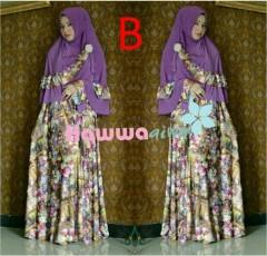 Model Baju Gamis Pusat-Gamis-Terbaru-Azwa-Flower-Vol-1-Kode-B
