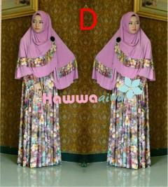 Model Baju Gamis Style Ala Syar'i Pusat-Gamis-Terbaru-Azwa-Flower-Vol-1-Kode-D