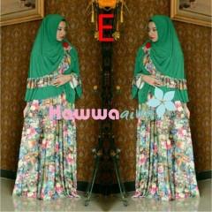 Model Baju Hijabers Terkini Pusat-Gamis-Terbaru-Azwa-Flower-Vol-1-Kode-E