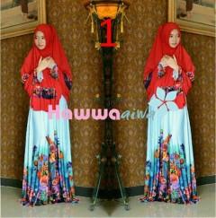 Model Busana Muslimah Syar'i Pusat-Gamis-Terbaru-Azwa-Flower-by-Hawwa-Aiwa-Vol-2-1