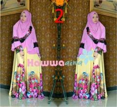 Model baju Hijabers Anggun Pusat-Gamis-Terbaru-Azwa-Flower-by-Hawwa-Aiwa-Vol-2-2
