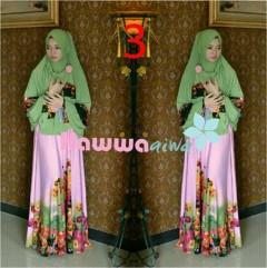 model Baju Hijabers online Pusat-Gamis-Terbaru-Azwa-Flower-by-Hawwa-Aiwa-Vol-2-3
