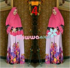 model Baju Muslim elegant Pusat-Gamis-Terbaru-Azwa-Flower-by-Hawwa-Aiwa-Vol-2-4