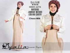 Model Baju Muslimah modern Pusat-Gamis-Terbaru-Balimo-Dyalia-(A-078)-Choco-Milk