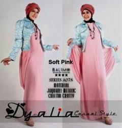 Model Baju Muslim Style Pusat-Gamis-Terbaru-Balimo-Dyalia-(A-078)-Soft-Pink
