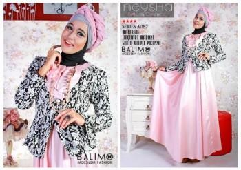 busana hijab modern Pusat-Gamis-Terbaru-Balimo-Neysha-Butterfly-Baby-Pink