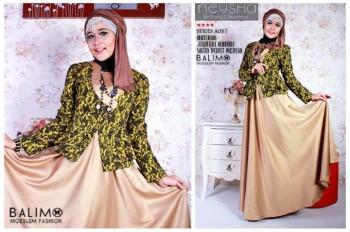 model baju yang lagi trend Pusat-Gamis-Terbaru-Balimo-Neysha-Butterfly-Choco-Milk