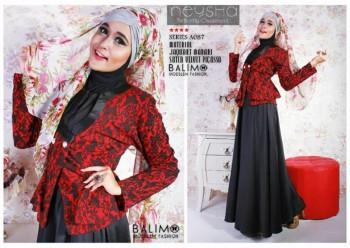 model baju online Pusat-Gamis-Terbaru-Balimo-Neysha-Butterfly-Hitam