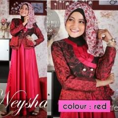 model baju yang terbaru Pusat-Gamis-Terbaru-Balimo-Neysha-Gradient-Motif-(A080)-Red