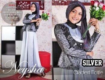 baju hijab modern Pusat-Gamis-Terbaru-Balimo-Neysha-Gradient-Motif-(A080)-Silver